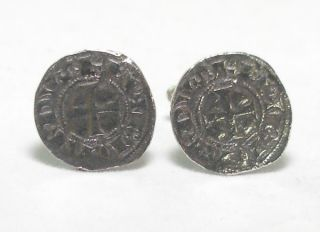 King Richard I Medieval Coin Cufflinks in Fine English Pewter Gift