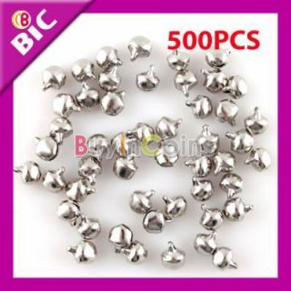 500pcs Metal Silver Craft Small Bell Charm Jingle Bells DIY Decoration