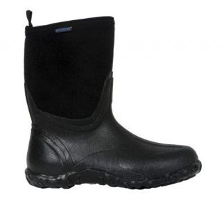 Bogs Standard Mens Mid Classic Black Boots —