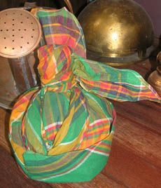CREOLE TRADITIONAL SINGLE LADIES HAT FROM MARTINIQUE   MADRAS ETHNIC