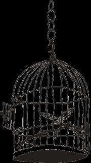Birdcage Goth Indie Decor Wall Art Vinyl Decal Sticker