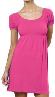 Sexy Pink Long Elastic Top Mini Dress Shirt Cup Sleeve