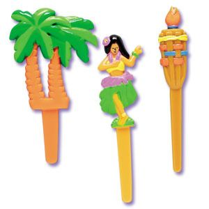 Luau Palm Trees Cupcake Picks Cake Decorations Toppers