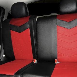 Synthetic Leather Semi   Custom Car Seat Covers 40 60 full split Ruby