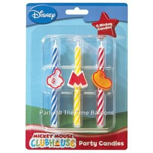 Birthday Party Candles Kids Cake Cupcake Topper Disney