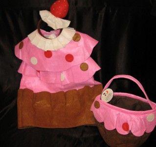 Pottery Barn Kids Cupcake Halloween Costume 4 6 Matching Treat Bag New