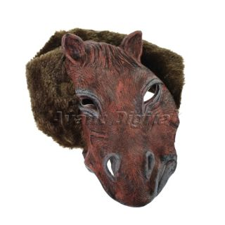 Horse Face Latex Hell Costume Mask Costume Party Halloween Night Xmas