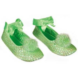Bell Tinkerbell Fairy Costume Shoes Slippers Girls Sequins 2