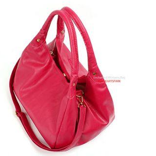 New Womens Ladies Shoulder Cross Body Tote Handbags PINK COLORS Korea