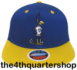 Creighton University Blue Jays Logo Retro Snapback Cap Hat Blue Yellow