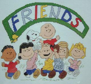 New Peanuts Cross Stitch Kit Friends Snoopy Charlie Brown Franklin