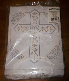 12 Religious Cross Gift Bags 9 Holy Communion Confirmation New