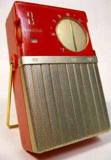Antique Sony TR 86 Vintage Japanese Shirt Pocket Transistor Radio