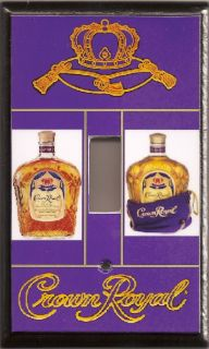 CROWN ROYAL WHISKEY light switch cover