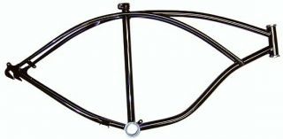 Black Beach Cruiser Bicycle Frame Beach Cruiser Bike Frame Bike Parts