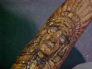 Custom Hand Carved Native American Indian Walking Stick Cane One of A