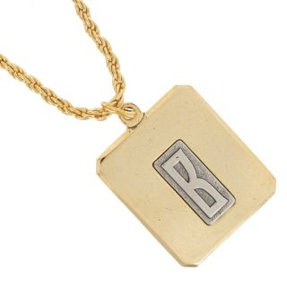 Personalized Custom Initial Letter Pendant Necklace Gold Plated Made