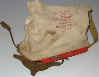 Cyclone Seed Sower Vintage Farm Garden Grass Seed Spreader