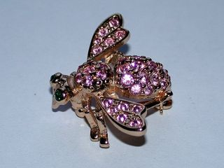 Retired Joan Rivers Swarovski Crystal Bee Pin Brooch F