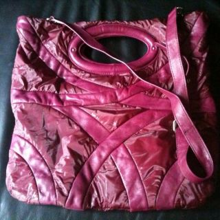 CYNTHIA ROWLEY Messenger Purple Leather Bag Purse