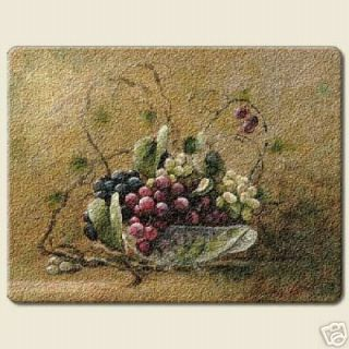 New Large Grape Cutting Board Kitchen Decor Fruit Glass