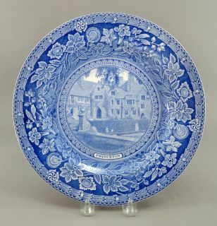 Wedgwood England PRINCETON UNIVERSITY Cuyler Hall 1930 Flow Blue Plate