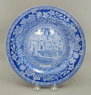 Wedgwood England PRINCETON UNIVERSITY Cuyler Hall 1930 Flow Blue Plate