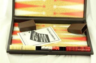1976 ES Lowe Milton Bradley Tournament Backgammon Board Game Complete
