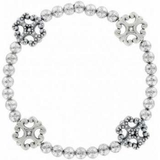 Brighton Brazos Cross Stretch Bracelet JB2812 Rtls $58 Petite Sparkle
