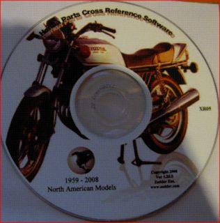 Honda USA Motorcycle Spares Part Cross Reference Manual