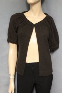 Cynthia Rowley 100 Cashmere Brown Shrug Cardigan Sweater M Medium NEW