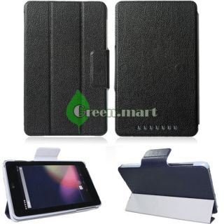 BLACK PU LEATHER STAND SMART COVER INCH TABLET CASE FOR. ASUS GOOGLE