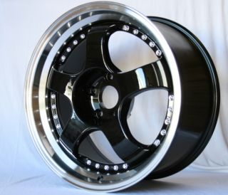 Rota D2 17x7 5 5x114 3 E25 Black Royal Lip Rim Wheels