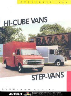 1986 Chevrolet Step Van Hi Cube Aluminum Truck Brochure