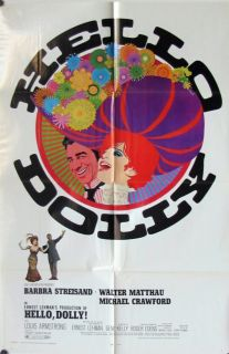 439 Hello Dolly Original 1970 Movie Poster Barbra Streisand 1 Sheet 27