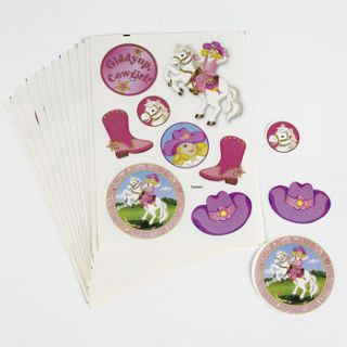 Cowgirl Stickers Birthday Party Favors Games Horse Decorations