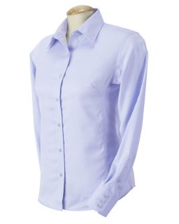 Devon Jones Blue Ladies Advantage Elite Pinpoint Oxford Shirt D605W