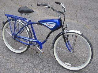 Electric Cruiser Bicycle MINT Retro Power Bike Blue Scooter eBike