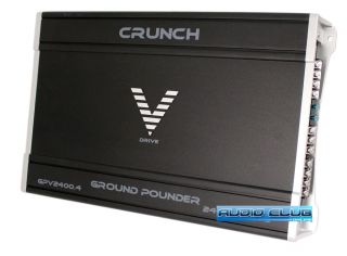 Crunch Ground Pounder Series 4 Channel 2400W Car Stereo MOSFET Power