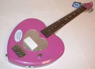 Daisy Rock Debutante Heartbreaker Pink Heart Guitar New