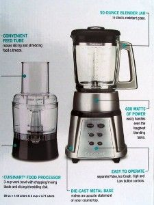 Cuisinart SmartPower Series Duet Blender   Food Processor   New