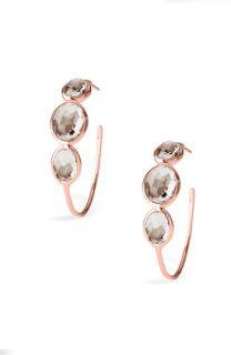 Ippolita Rock Candy   Number 3 3 Stone Rosé Hoop Earrings