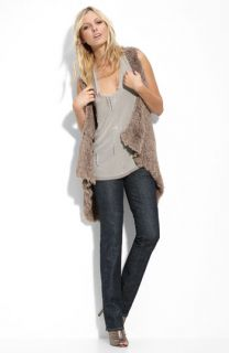 Pure Sugar Tank & Kensie Faux Fur Vest with Citizens of Humanity Stretch Jeans