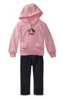 Small Paul Hoody & iT JEANS Straight Leg Jeans (Toddler)
