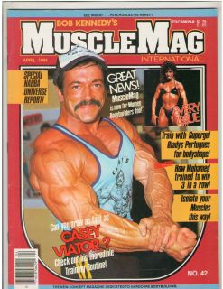 MuscleMag bodybuilding fitness magazine/Casey Viator/Gladys Portugues