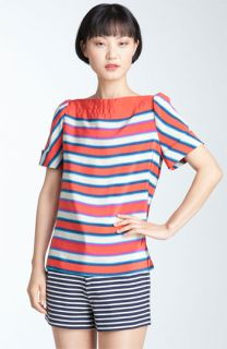 MARC BY MARC JACOBS Jacobson Stripe Silk Top