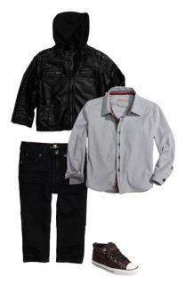 Black Rivet Jacket & Sovereign Code Shirt (Toddler)