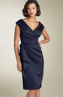 Maggy London Stretch Satin Sheath Dress (Petite)