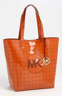 MICHAEL Michael Kors Medium Perforated Patent Leather Tote