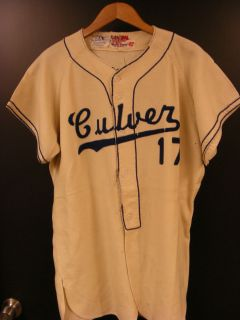 Antique Rawlings 17 Culver City Baseball Jersey with Felt Letters SZ42
